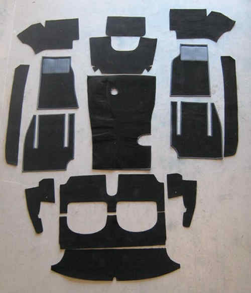 Austin Healey 100/6 3000 Carpet Set-Black High Quality -Sidechange