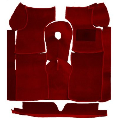 Morris Minor deluxe deep pile carpet set, Dark Red